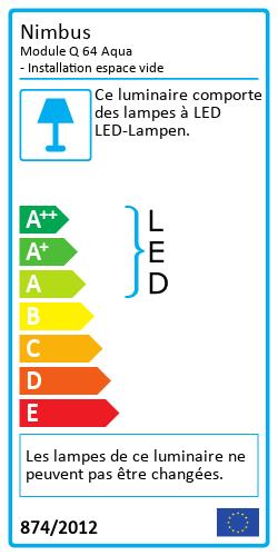 Module Q 64 Aqua - Installation espace videEnergy Label