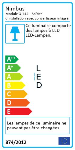Module Q 144 - Boîtier d'installation avec convertisseur intégréLabel énergétique