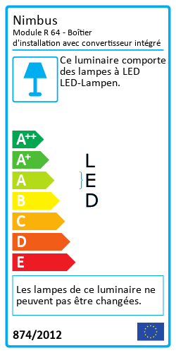 Module R 64 - Boîtier d'installation avec convertisseur intégréEnergy Label