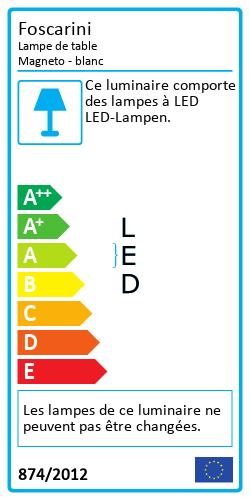 Lampe de table MagnetoLabel énergétique