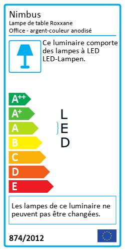 Lampe de table Roxxane OfficeLabel énergétique