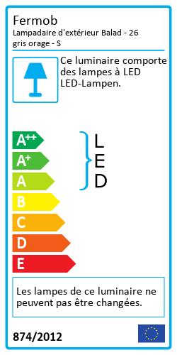 Lampadaire d'extérieur BaladEnergy Label